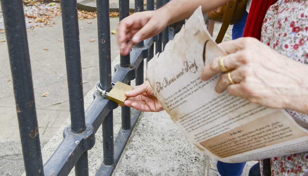 cadenas à ouvrir pour notre chasse au trésor dans le Marais