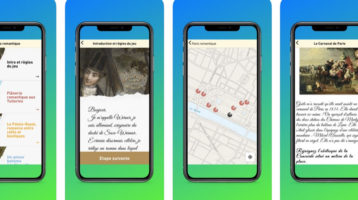 Screenshot application chasse au trésor paris romantique